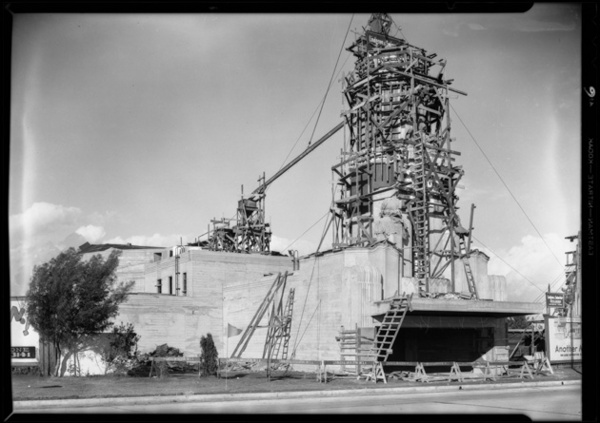 Leimert Theater under construction, 1931 | Dick Whittington Studio, Courtesy of the USC Digital Library
