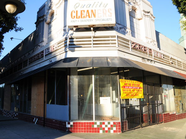 Zeb's Cleaners was one of the businesses that received an eviction notice several months ago. The owner chose to relocate up the street. I Photo: Alvaro Parra