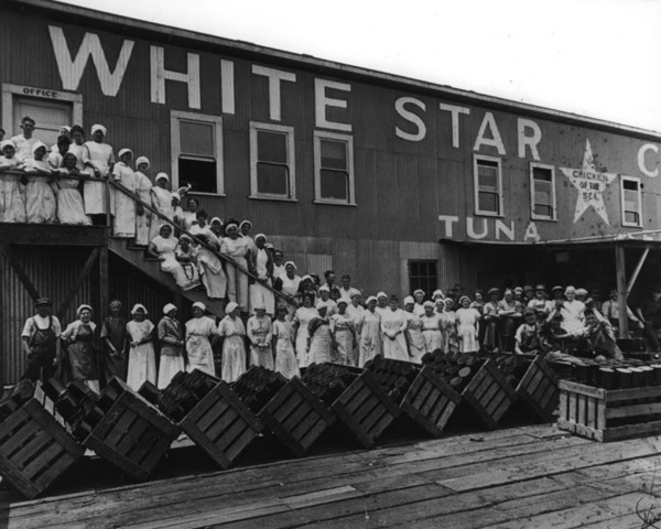 White Star Cannery at Terminal Island in the L.A. Harbor area | Security Pacific National Bank Collection, Los Angeles Public Library