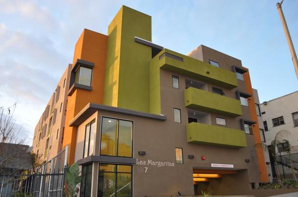 Las Margaritas Apartment, an ELACC affordable housing development just north of the Soto/1st Street Metro GoldLine Stop
