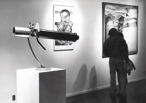Interior of Brockman Gallery, unnamed John Riddle sculpture and <em>Portrait of Paul Robeson</em>, by John Scott | Photo: Courtesy of Brockman Gallery Archive