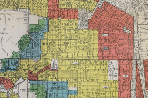 Redlining map of South L.A.