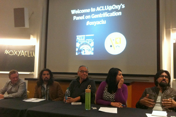 The panel on gentrification at Occidental College | Photo: Jan Lin