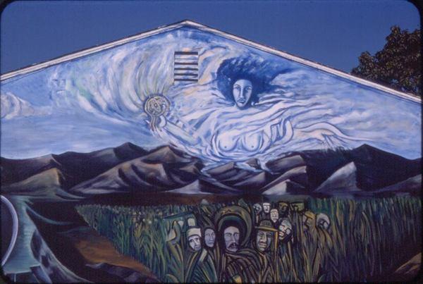 Mural by Ismael Smiley Cazarez in El Monte (1976) | Courtesy Ismael Smiley Cazarez
