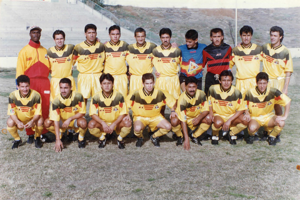 Top row, second from the left, Juan is pictured with the second division Mexican team Inter-Tijuana