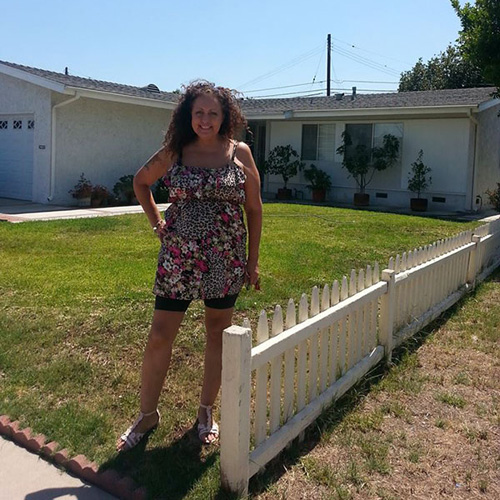 Benita at her former house | Photo by Vickie Vertiz