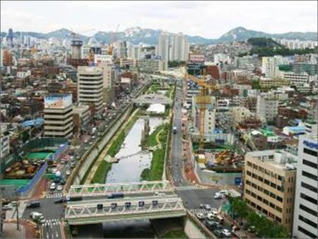 The Cheonggyecheon stream after restoration.