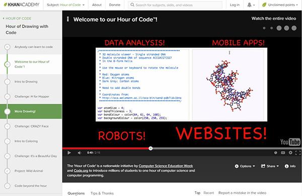 Khan Academy Introduction to Java Script tutorial