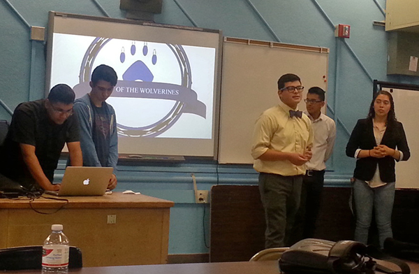 Students present their projects to an audience of students and industry professionals | Photo courtesy of Leslie Aaronson