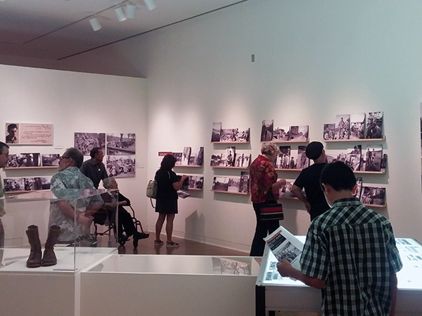 Guests view the JANM exhibit, which features Sus Ito's photos, negatives, and wartime memorabilia. | Photo: Elson Trinidad