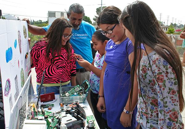 DIY Girls participants, Eileen, Vanessa, Doris, and Liliana enjoy their creations