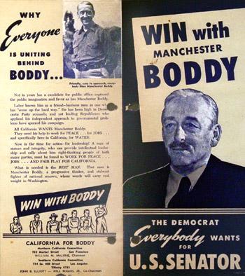 Boddy for Senate, 1950