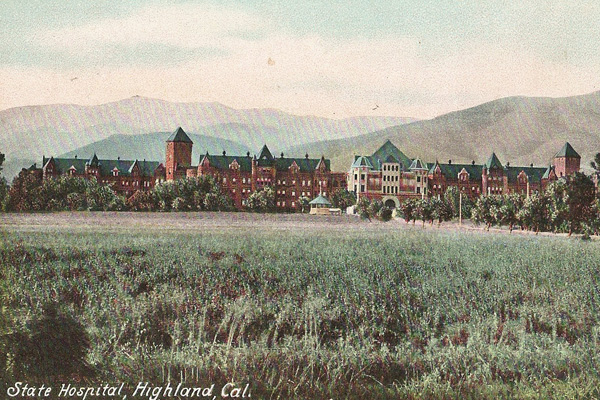 Postcard view of Patton State Hospital