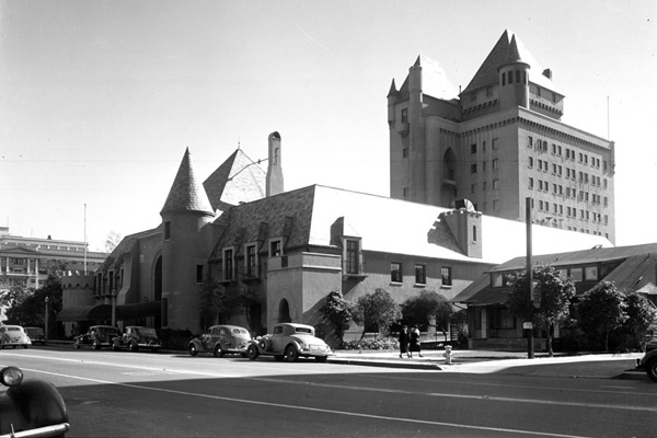 Exterior view of the Pacific Coast Club in Long Beach. | Photo: LAPL