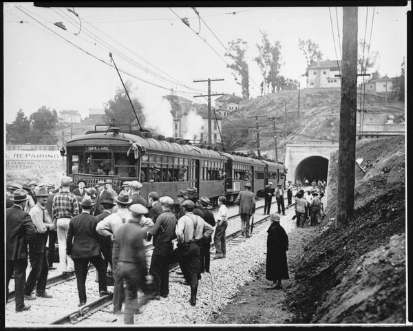 opening of the Hollywood Subway on the Pacific Electric Railway | California Historical Society Collection, USC Digital Library