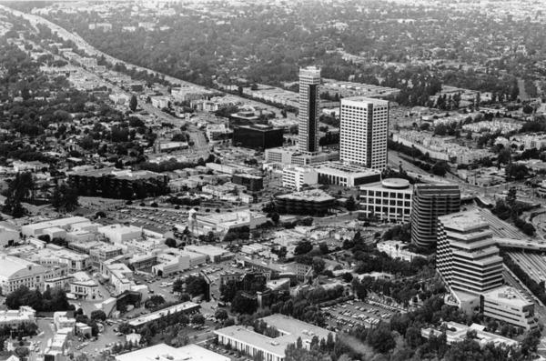 Aerial view of Burbank, ca. 1992 | Los Angeles Public Library