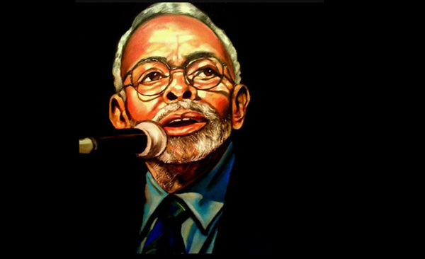 Portrait of Amiri Baraka by Billy Burgos