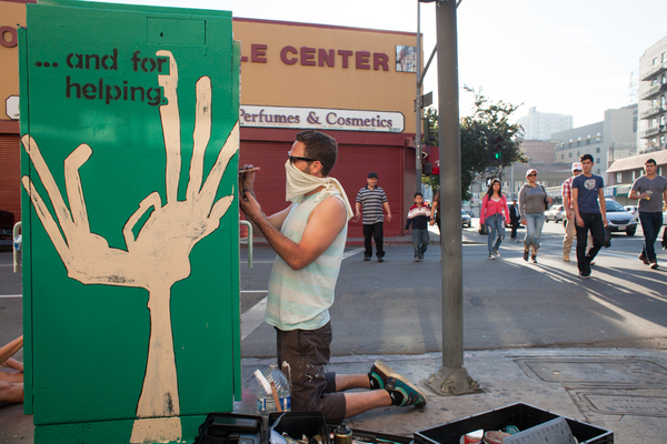 ''Hands are for . . .'' by SKECHY, Fourth at Los Angeles