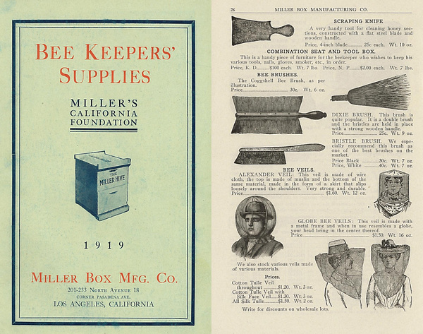 Miller Box Manufacturing Company, Bee Keepers' Supplies, 1919 | Courtesy California Historical Society