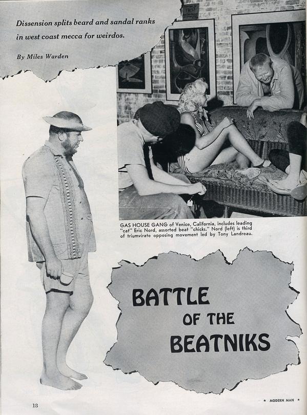 ''Battle of the Beatniks'' from Modern Man magazine, 1960