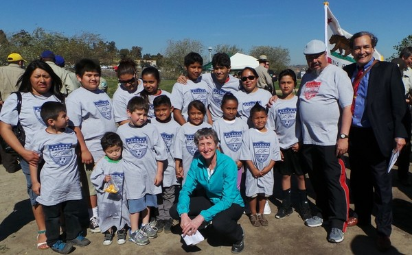Secretary of the Interior Sally Jewell at L.A. State Historic Park with Anahuak Youths Sports Association and The City Project, March 10, 2014 | Photo courtesy Paco Serrano/Anahuak