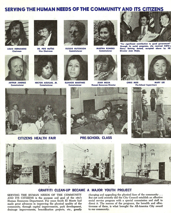 From the South El Monte Newsletter ca. 1975 | Image: Courtesy of the City of South El Monte and SEMAP