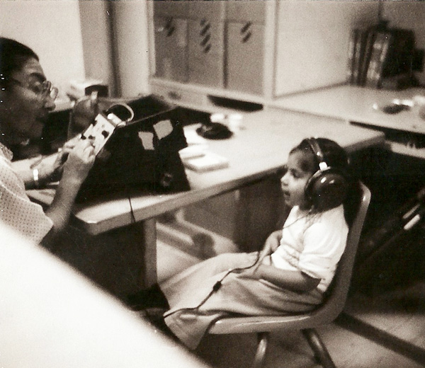 A community member performs a hearing test. | Photo: Courtesy of the City of South El Monte and SEMAP