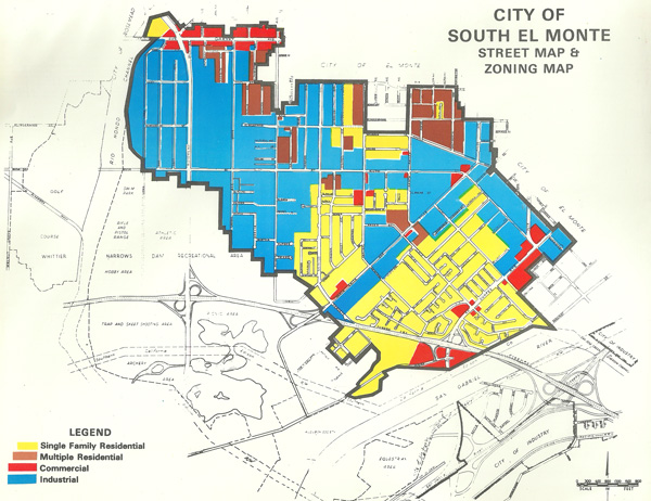 San Gabriel Zip Code Map.City Of Achievement The Making Of The City Of South El Monte 1955