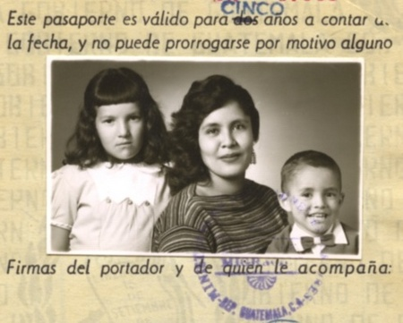 Guatemalan Passport for entry to US 1956