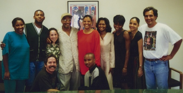 Geronimo Pratt on his first day of freedom in 1997 at LDF LA.