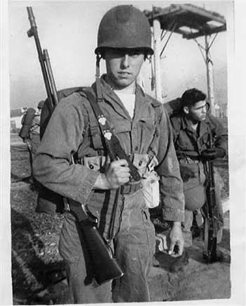 Mr. Castro serving in World War II, A. Castro | Courtesy of La Historia Society of El Monte