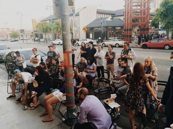 World Cup L.A.'s pop up screening in Little Tokyo | Photo courtesy of World Cup L.A.
