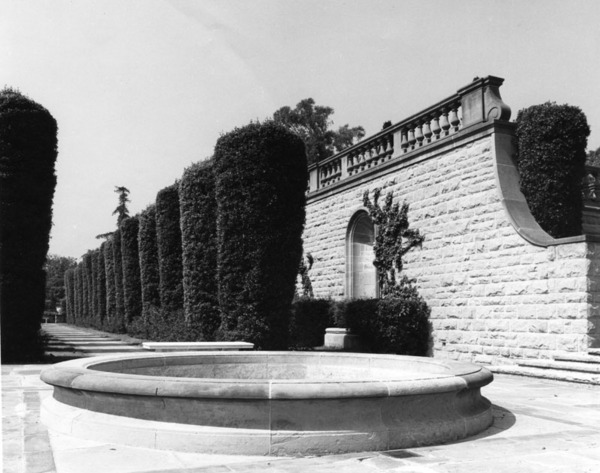 'Cyprus Lane' at Greystone, ca. 1928 | Security Pacific National Bank Collection, Los Angeles Public Library