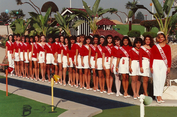 A local beauty contest ca. 1988 held at Golfland. | Photo: Courtesy of the City of South El Monte