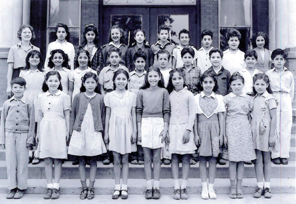 Kids from Hicks Camp in a class photo at Lexington School, date unknown. | Courtesy of La Historia Society El Monte