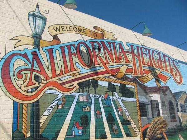 California Heights mural by Art Mortimer | Photo: California Heights Neighborhood Association Facebook
