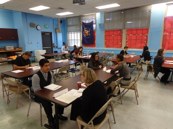 Students participate in mock interviews