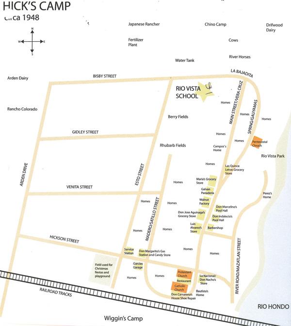 Map of Hicks Camp | Courtesy of La Historia Society of El Monte