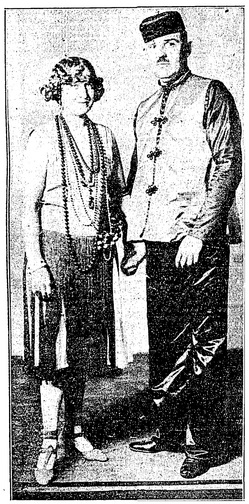 Mr. and Mrs. E. L. Doheny, Jr., in Fancy-Ball Costume | Los Angeles Times, February 18, 1929