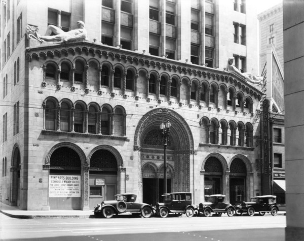 Fine Arts Building, ca. 1928 | Security Pacific National Bank Collection, Los Angeles Public Library