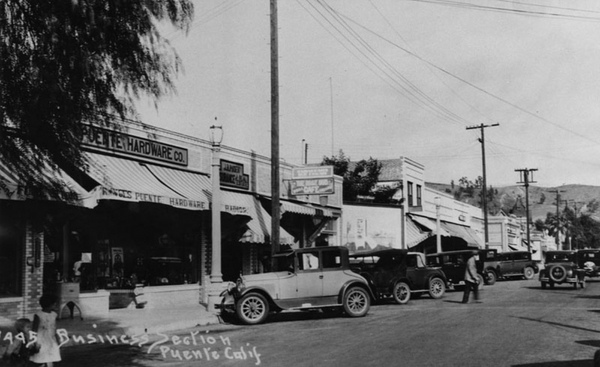 Downtown La Puente, ca. 1930s | Photo courtesy of Ruben Marin