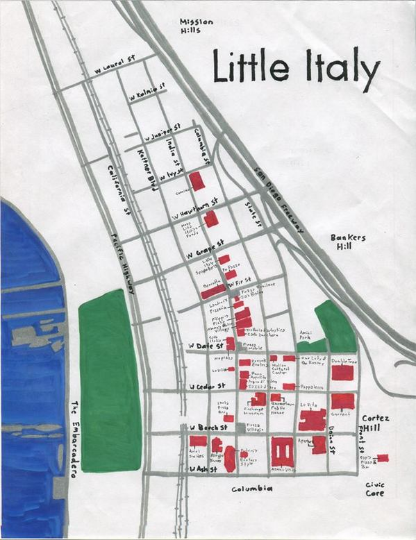 Little Italy San Diego Map.Exploring San Diego S Little Italy Kcet