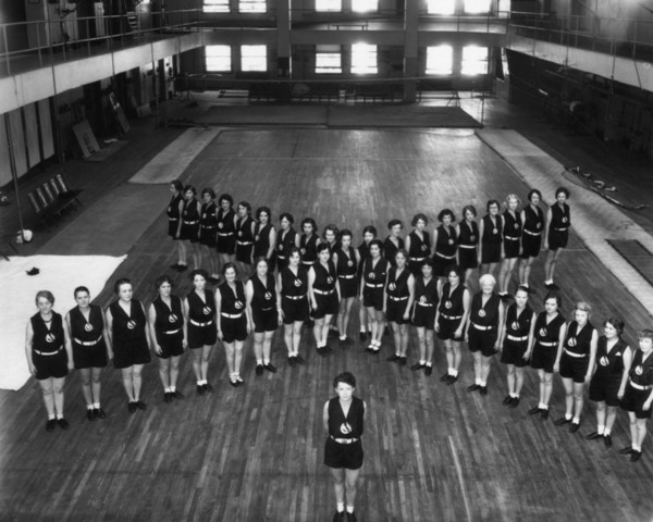 The gymnasium of the Los Angeles Athletic Club | Security Pacific National Bank Collection, Los Angeles Public Library
