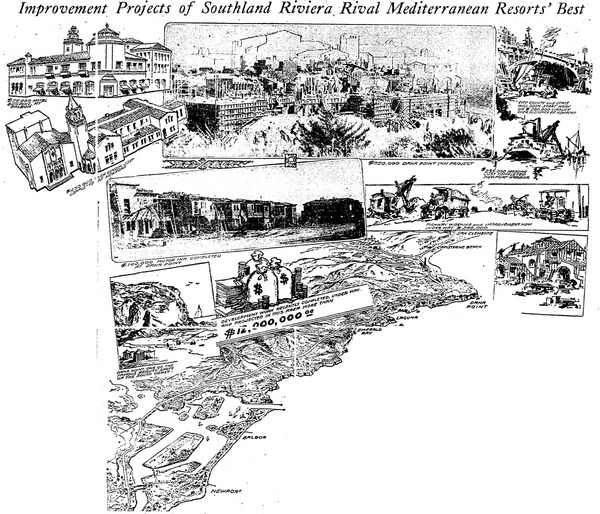 Conceptual drawings for Dana Point development | Los Angeles Times, December 21, 1930
