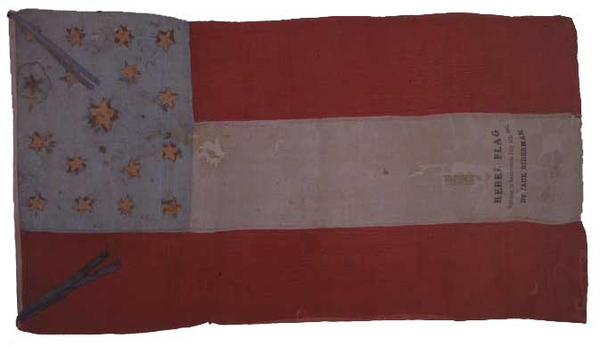 A flag used by Confederate sympathizers in California | Photo courtesy of Tropics of Meta