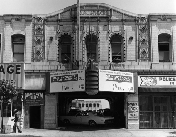 Main Street Gym, formerly the Adolphus Theater, in downtown Los Angeles, 1979 | Photo: William Reagh Collection, Los Angeles Public Library