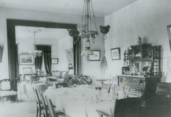Parlor of the Banning House, ca. 1910 | Photo: Property of Friends of Banning Museum