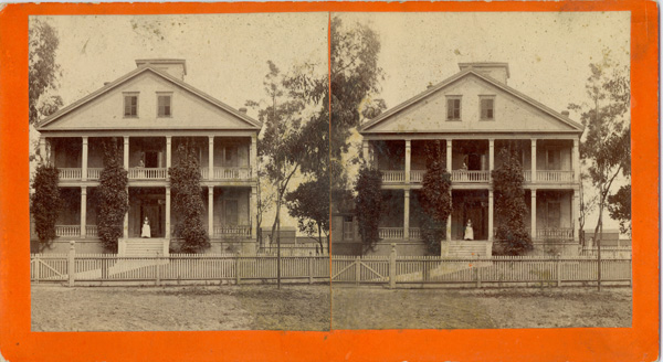 Stereograph of the Banning House, taken by Joseph Banning, ca. 1880 | Photo: Property of Friends of Banning Museum
