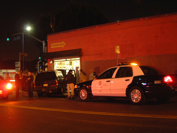 Car accident on Avenue 54 off of N. Figueroa | Photo: Josef Bray-Ali