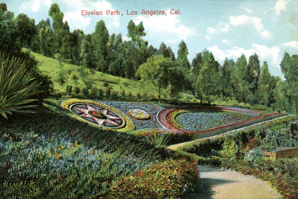 Postcard view of Elysian Park, early 1900s